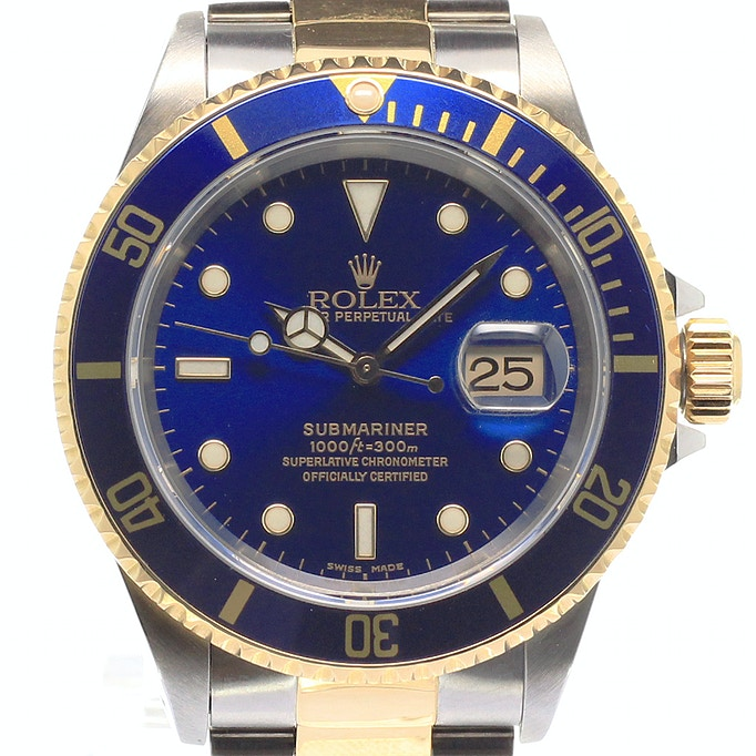 rolex submariner bicolor 16613 kaufen chronext. Black Bedroom Furniture Sets. Home Design Ideas