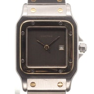 Cartier Santos GM Automatic Gold/Steel - -