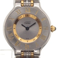 Cartier Must 24 Midsize Gold/Steel - -