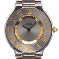 Cartier Must 24 Midsize Gold/Steel - W10072R6