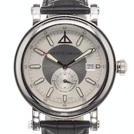 Arnold & Son HMS II Steel Silver Watch - 1h2as-so1a-c01b