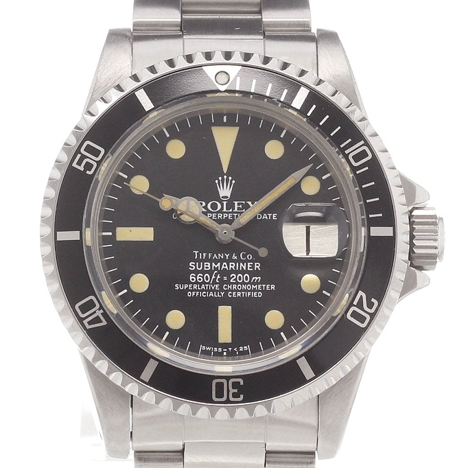 rolex submariner date tiffany co 1680 kaufen chronext. Black Bedroom Furniture Sets. Home Design Ideas