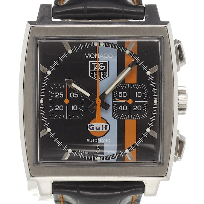 tag heuer steve mcqueen monaco vintage gulf cw211a for sale chronext. Black Bedroom Furniture Sets. Home Design Ideas