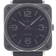 Bell & Ross BR S Officer Black - BRS92-BL-ST
