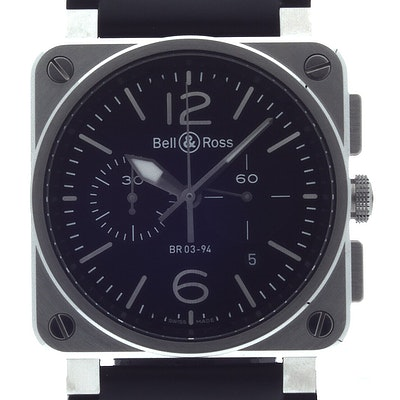 Bell & Ross BR 03 Steel - BR0394-BL-SI/SCA