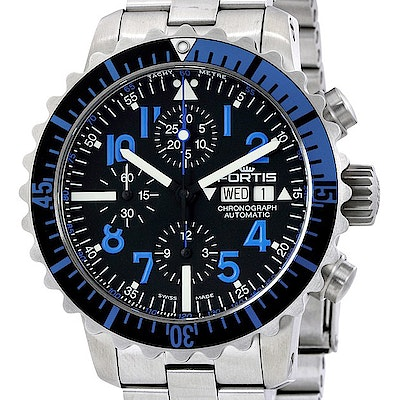 Fortis Marinemaster Blue Chronograph - 671.15.45 M