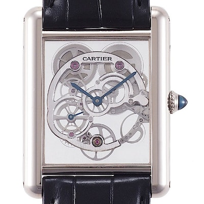 Cartier Tank Louis skelettiert Saphir - W5310012
