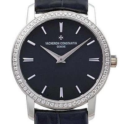 Vacheron Constantin Traditionnelle Blue Dial Diamond  - 25558/000G-9758