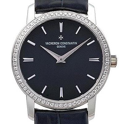 Vacheron Constantin Traditionnelle Blue Dial Diamond  - 25558/000G-9758