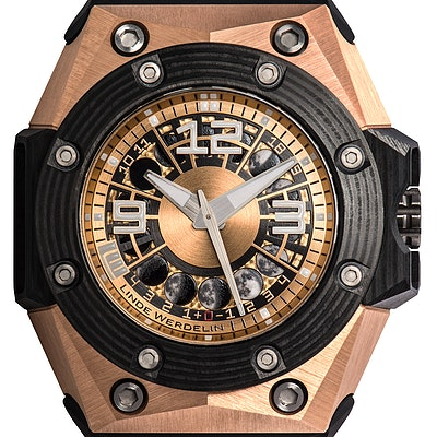 Linde Werdelin Oktopus Moon Gold 3DTP Carbon Ltd. - OKTOPUS MOON GOLD 3DTP CARBON