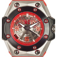 Linde Werdelin Oktopus Double Date Titanium Red Ltd. - OKTOPUS DOUBLE DATE TITANIUM RED