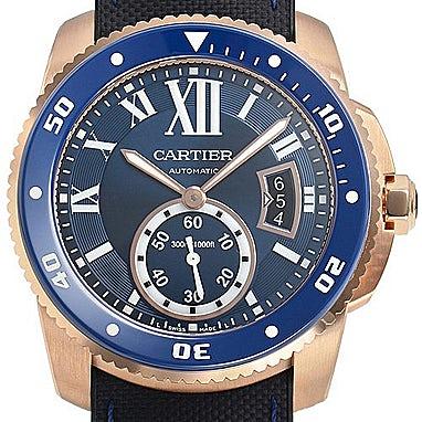 Cartier Calibre Diver blau - WGCA0009