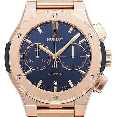 Hublot Classic Fusion Automatic Chronograph King Gold Blue - 520.OX.7180.OX