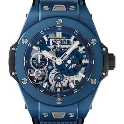 "Hublot Big Bang Meca-10 Ceramic Blue ""Baselworld 2018"" - 414.EX.5123.RX"