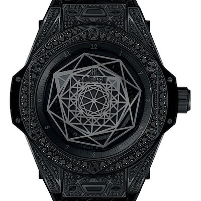 Hublot Big Bang One Click Sang Bleu All Black Pavé  - 465.CS.1114.VR.1700.MXM18