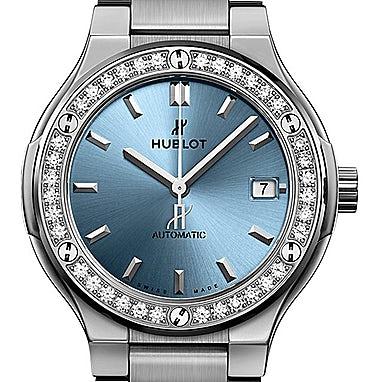 Hublot Classic Fusion Titanium Light Blue - 568.NX.891L.NX.1204