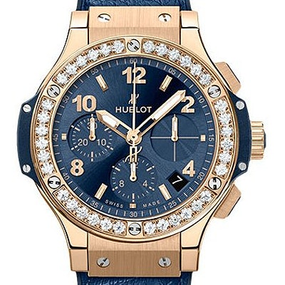 Hublot Big Bang Gold Blue Diamonds - 341.PX.7180.LR.1204