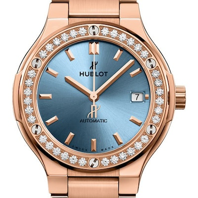 Hublot Classic Fusion King Gold Light Blue Automatic  - 568.OX.891L.OX.1204