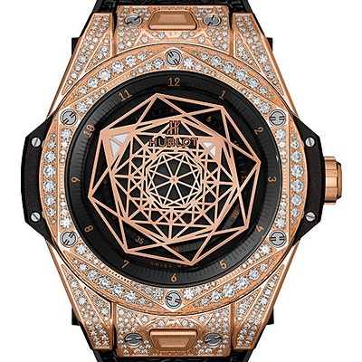 Hublot Big Bang One Click Sang Bleu King Gold Pavé  - 465.OS.1118.VR.1704.MXM18