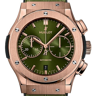 Hublot Classic Fusion Automatic Chronograph King Gold Green - 521.OX.8980.LR