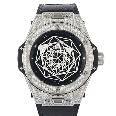Hublot Big Bang One Click Sang Bleu Steel Pavé - 465.SS.1117.VR.1704.MXM18