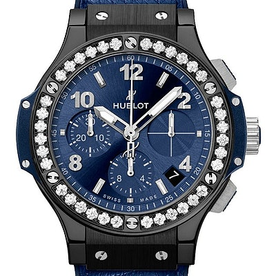 Hublot Big Bang Ceramic Blue Diamonds - 341.CM.7170.LR.1204