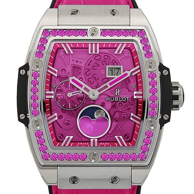 Hublot Spirit of Big Bang Moonphase Titanium Pink - 647.NX.7371.LR.1233