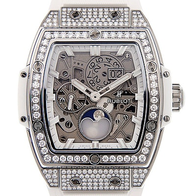 Hublot Spirit of Big Bang Moonphase Titanium white Pave - 647.NE.2070.RW.1604