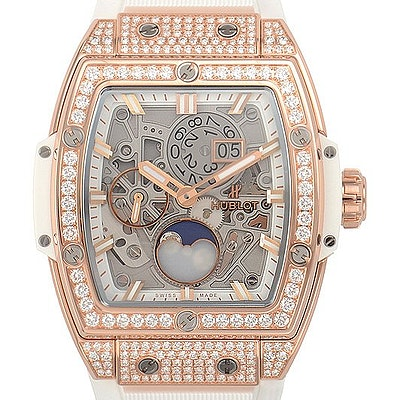 Hublot Spirit of Big Bang Moonphase King Gold White Pave - 647.OE.2080.RW.1604