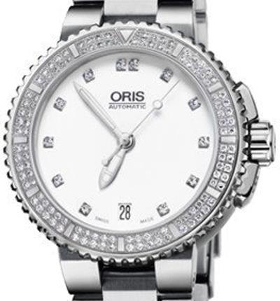 Oris Aquis Date Diamonds - 01 733 7652 4991-07 8 18 01P
