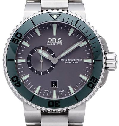 Oris Aquis Small Second Date - 01 743 7673 4157-07 8 26 01PEB