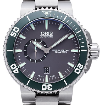 Oris Aquis Small Second Date - 01 743 7673 4137-07 8 26 01PEB