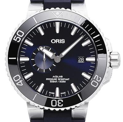 Oris Aquis Small Second Date - 01 743 7733 4135-07 4 24 65EB