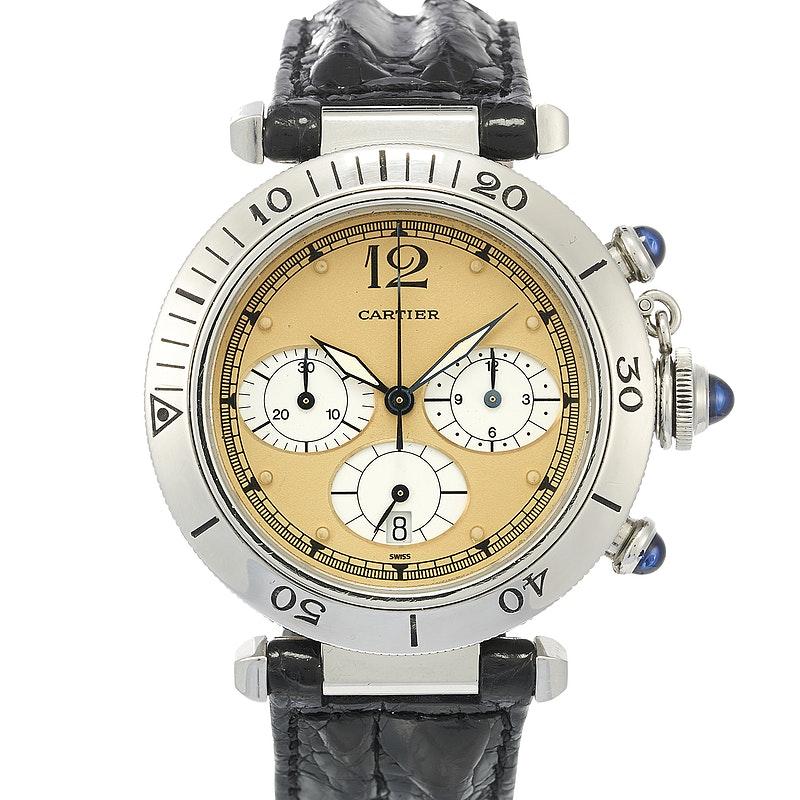 edbbd125dceb7 Cartier Pasha W31004H3 for Sale | CHRONEXT