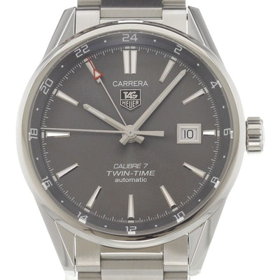 Tag Heuer Carrera Calibre 7 Twin Time Automatic - WAR2012.BA0723