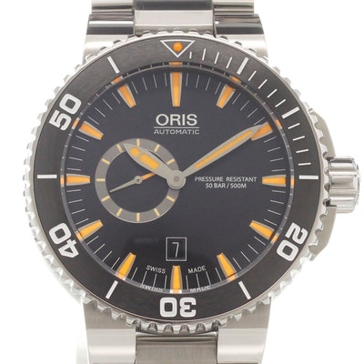 Oris Aquis Small Second Date - 01 743 7673 4159-07 8 26 01PEB