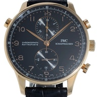 IWC Portugieser double chronograph Rosegold - -