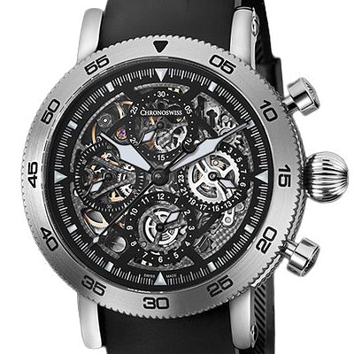 Chronoswiss Timemaster Chronograph Skeleton  - CH-9043S-BK/71-2