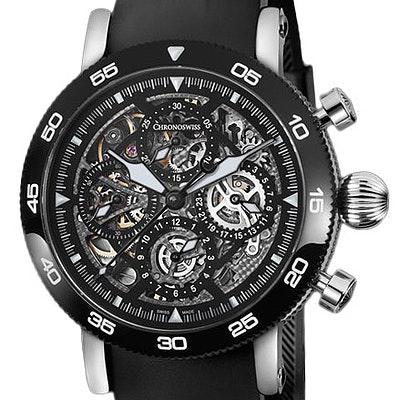 Chronoswiss Timemaster Chronograph Skeleton  - CH-9043SB-BK/71-2