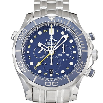 Omega Seamaster Diver 300M Co-Axial GMT Chronograph - 212.30.44.52.03.001