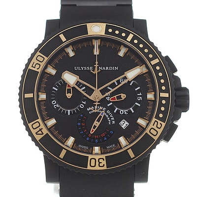 Ulysse Nardin Marine Maxi Diver Black Sea Chronograph - 353-90-3C