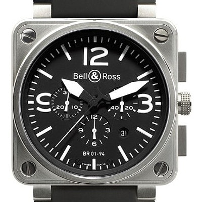 Bell & Ross BR 01 Chronograph - BR0194-BL-ST