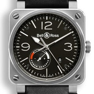 Bell & Ross BR 03-97 Reserve De Marche - BR0397-BL-SI/SCA