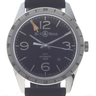 Bell & Ross BR 123 GMT Officer - BRV123-BL-GMT/SRB