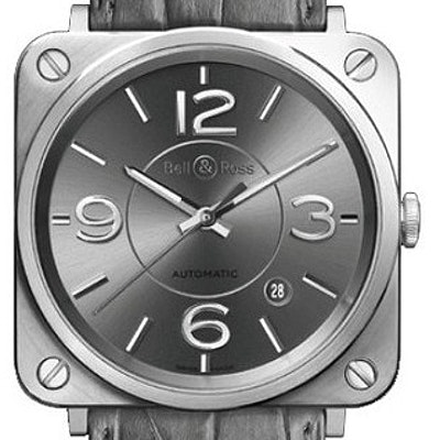 Bell & Ross BR S Officer Ruthenium - BRS92-RU-ST/SCR
