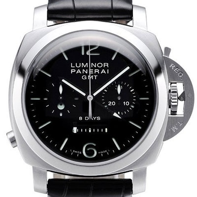 Panerai Luminor 1950 Chono Monopulsante 8 Days Acciaio GMT  - PAM00275