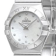 Omega Constellation Brushed Quartz Mini -  123.10.24.60.55.004