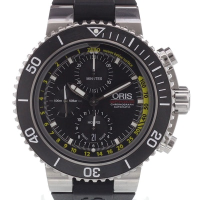 Oris Aquis Depth Gauge Chrono - 01 774 7708 4154-Set RS