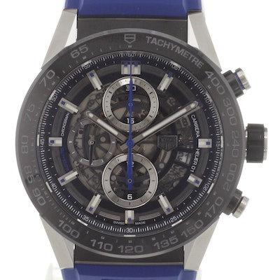 Tag Heuer Carrera Calibre HEUER 01 Automatic Chronograph Blue Touch Edition - CAR2A1T.FT6052