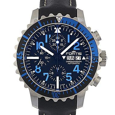 Fortis B-42 Marinemaster Blue Chronograph - 671.15.45 L